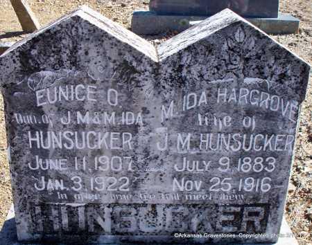 HARGROVE HUNSUCKER, M  IDA - Scott County, Arkansas | M  IDA HARGROVE HUNSUCKER - Arkansas Gravestone Photos