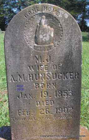 HUNSUCKER, M J - Scott County, Arkansas | M J HUNSUCKER - Arkansas Gravestone Photos