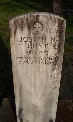 HUNT  (VETERAN), JOSEPH N - Scott County, Arkansas | JOSEPH N HUNT  (VETERAN) - Arkansas Gravestone Photos