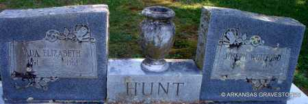 HUNT, JOSEPH WHITFORD - Scott County, Arkansas | JOSEPH WHITFORD HUNT - Arkansas Gravestone Photos