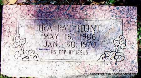 HUNT, IRA PAT - Scott County, Arkansas | IRA PAT HUNT - Arkansas Gravestone Photos