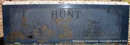 HUNT, ZURA - Scott County, Arkansas | ZURA HUNT - Arkansas Gravestone Photos