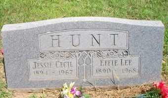 HUNT, JESSIE CECIL - Scott County, Arkansas | JESSIE CECIL HUNT - Arkansas Gravestone Photos