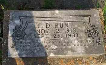 HUNT, L  D - Scott County, Arkansas | L  D HUNT - Arkansas Gravestone Photos