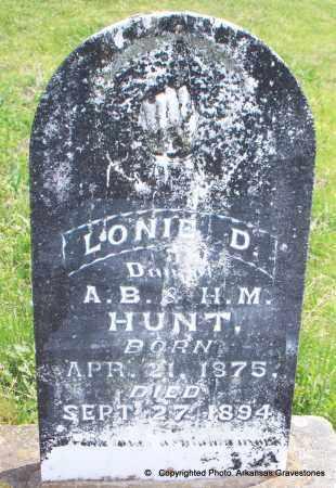 HUNT, LONIE D - Scott County, Arkansas   LONIE D HUNT - Arkansas Gravestone Photos
