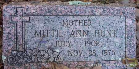 HUNT, MITTIE ANN - Scott County, Arkansas | MITTIE ANN HUNT - Arkansas Gravestone Photos