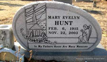 HUNT, MARY EVELYN - Scott County, Arkansas   MARY EVELYN HUNT - Arkansas Gravestone Photos