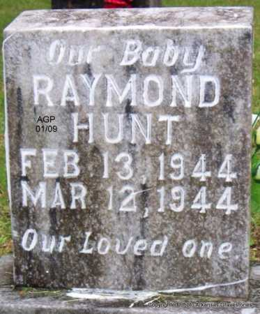 HUNT, RAYMOND - Scott County, Arkansas | RAYMOND HUNT - Arkansas Gravestone Photos