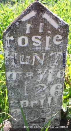 HUNT, ROSIE - Scott County, Arkansas | ROSIE HUNT - Arkansas Gravestone Photos