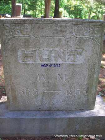 HUNT, W M - Scott County, Arkansas   W M HUNT - Arkansas Gravestone Photos