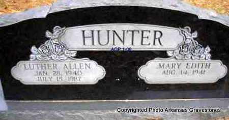 HUNTER, LUTHER ALLEN - Scott County, Arkansas   LUTHER ALLEN HUNTER - Arkansas Gravestone Photos