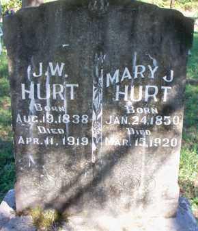HURT, MARY J - Scott County, Arkansas   MARY J HURT - Arkansas Gravestone Photos