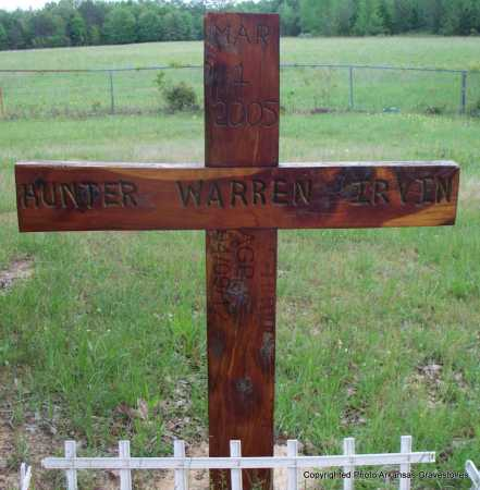 IRVIN, HUNTER WARREN - Scott County, Arkansas | HUNTER WARREN IRVIN - Arkansas Gravestone Photos
