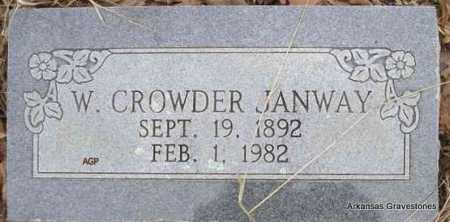 JANWAY, W CROWDER - Scott County, Arkansas | W CROWDER JANWAY - Arkansas Gravestone Photos