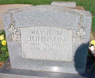 JOHNSON, WAYNE M - Scott County, Arkansas   WAYNE M JOHNSON - Arkansas Gravestone Photos