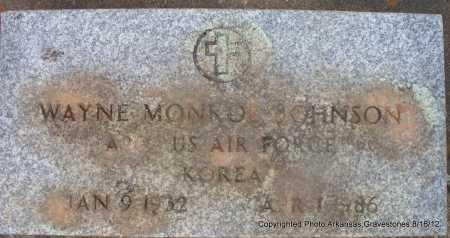 JOHNSON  (VETERAN KOR), WAYNE MONROE - Scott County, Arkansas | WAYNE MONROE JOHNSON  (VETERAN KOR) - Arkansas Gravestone Photos