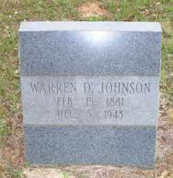 JOHNSON, WARREN D - Scott County, Arkansas   WARREN D JOHNSON - Arkansas Gravestone Photos