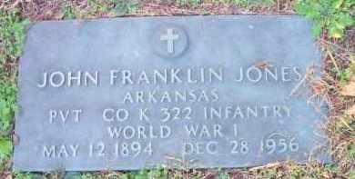 JONES  (VETERAN WWI), JOHN FRANKLIN - Scott County, Arkansas   JOHN FRANKLIN JONES  (VETERAN WWI) - Arkansas Gravestone Photos