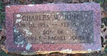 JONES, CHARLES W - Scott County, Arkansas | CHARLES W JONES - Arkansas Gravestone Photos