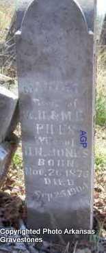JONES, MARTHA A - Scott County, Arkansas   MARTHA A JONES - Arkansas Gravestone Photos