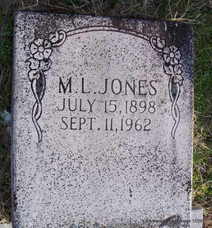 JONES, M L - Scott County, Arkansas | M L JONES - Arkansas Gravestone Photos