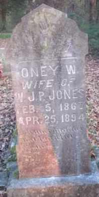 JONES, ONEY W - Scott County, Arkansas | ONEY W JONES - Arkansas Gravestone Photos