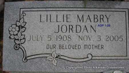 JORDAN, LILLIE - Scott County, Arkansas   LILLIE JORDAN - Arkansas Gravestone Photos