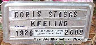 STAGGS KEELING, DORIS - Scott County, Arkansas | DORIS STAGGS KEELING - Arkansas Gravestone Photos