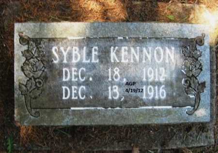 KENNON, SYBLE - Scott County, Arkansas | SYBLE KENNON - Arkansas Gravestone Photos