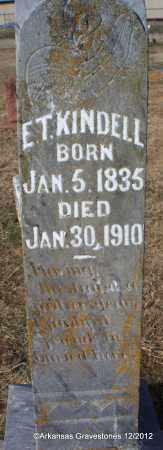 KINDELL (VETERAN CSA), E T - Scott County, Arkansas | E T KINDELL (VETERAN CSA) - Arkansas Gravestone Photos
