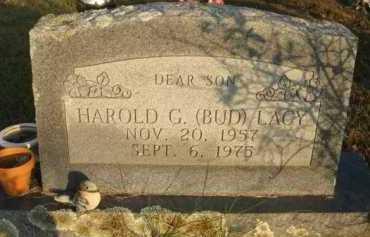 LACY, HAROLD G  (BUD) - Scott County, Arkansas   HAROLD G  (BUD) LACY - Arkansas Gravestone Photos
