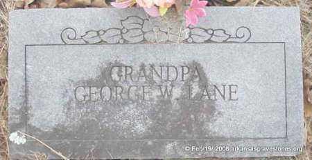 LANE, GEORGE W - Scott County, Arkansas | GEORGE W LANE - Arkansas Gravestone Photos