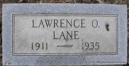 LANE, LAWRENCE O - Scott County, Arkansas | LAWRENCE O LANE - Arkansas Gravestone Photos