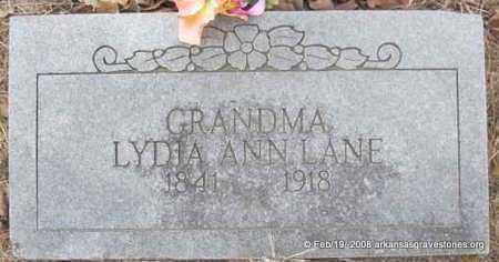 LANE, LYDIA ANN - Scott County, Arkansas   LYDIA ANN LANE - Arkansas Gravestone Photos