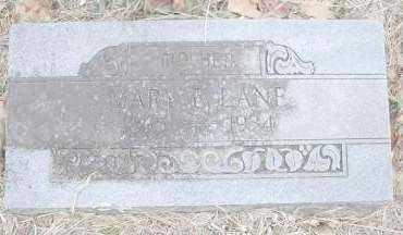 LANE, MARY E - Scott County, Arkansas | MARY E LANE - Arkansas Gravestone Photos
