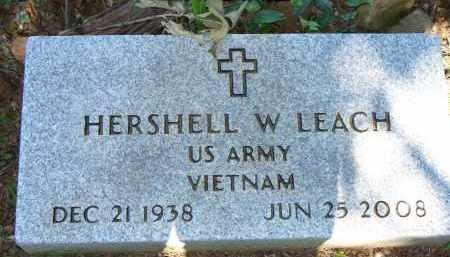 LEACH   (VETERAN VIET), HERSHELL W - Scott County, Arkansas | HERSHELL W LEACH   (VETERAN VIET) - Arkansas Gravestone Photos