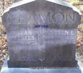 LEAMON, SARAH FRANCES - Scott County, Arkansas | SARAH FRANCES LEAMON - Arkansas Gravestone Photos