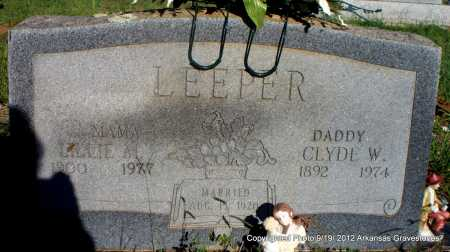 LEEPER, CLYDE M - Scott County, Arkansas | CLYDE M LEEPER - Arkansas Gravestone Photos