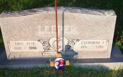 LEEPER, CATHERINE I - Scott County, Arkansas | CATHERINE I LEEPER - Arkansas Gravestone Photos