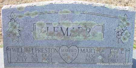 JONES LEMARR, MARTHA DELL - Scott County, Arkansas | MARTHA DELL JONES LEMARR - Arkansas Gravestone Photos