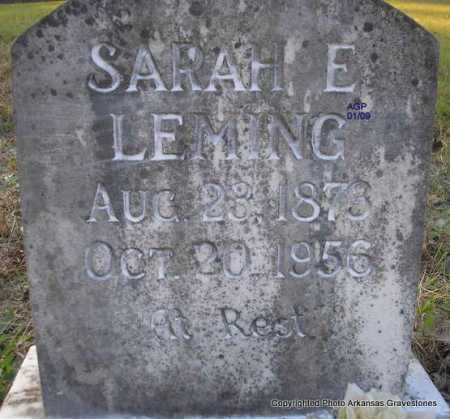 LEMING, SARAH E - Scott County, Arkansas | SARAH E LEMING - Arkansas Gravestone Photos