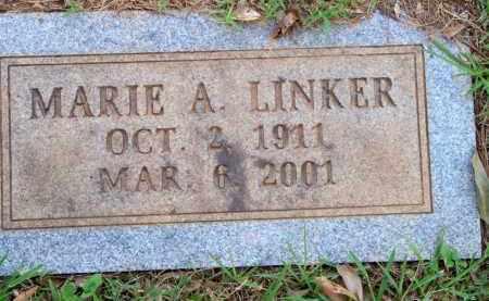 LINKER, MARIE A - Scott County, Arkansas | MARIE A LINKER - Arkansas Gravestone Photos