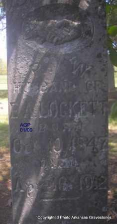 LOCKETT, R  W - Scott County, Arkansas | R  W LOCKETT - Arkansas Gravestone Photos