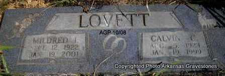 LOVETT, CALVIN C - Scott County, Arkansas   CALVIN C LOVETT - Arkansas Gravestone Photos