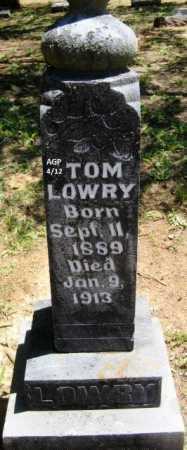 LOWRY, TOM - Scott County, Arkansas | TOM LOWRY - Arkansas Gravestone Photos