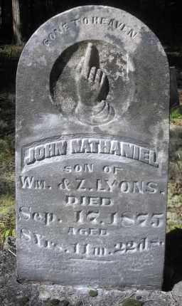 LYONS, JOHN NATHANIEL - Scott County, Arkansas | JOHN NATHANIEL LYONS - Arkansas Gravestone Photos