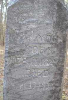 LYONS, WM - Scott County, Arkansas   WM LYONS - Arkansas Gravestone Photos
