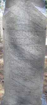 LYONS, ZERUA - Scott County, Arkansas   ZERUA LYONS - Arkansas Gravestone Photos