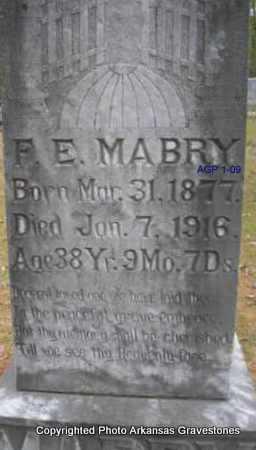 MABRY, F E - Scott County, Arkansas | F E MABRY - Arkansas Gravestone Photos