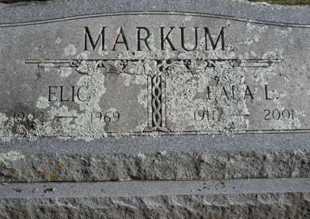 MARKUM, ELIC - Scott County, Arkansas | ELIC MARKUM - Arkansas Gravestone Photos